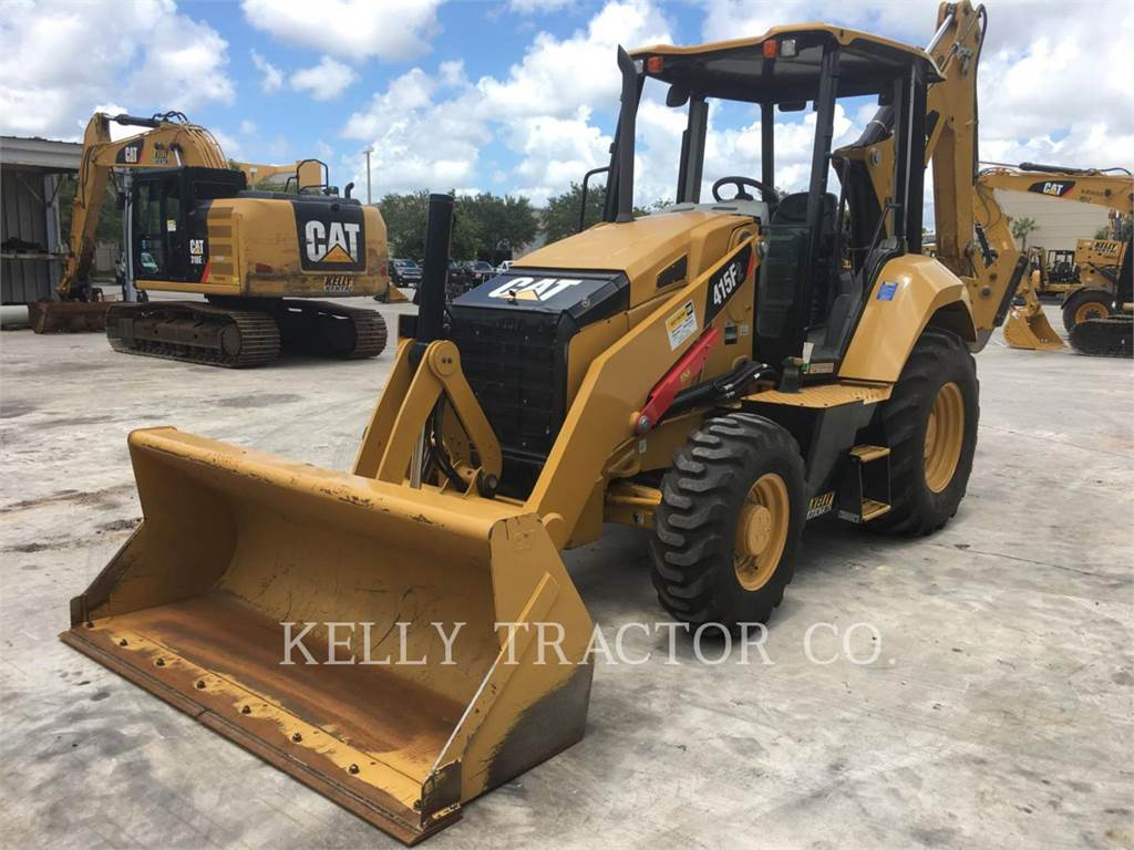 Caterpillar 415 F 2, backhoe loader, Construction
