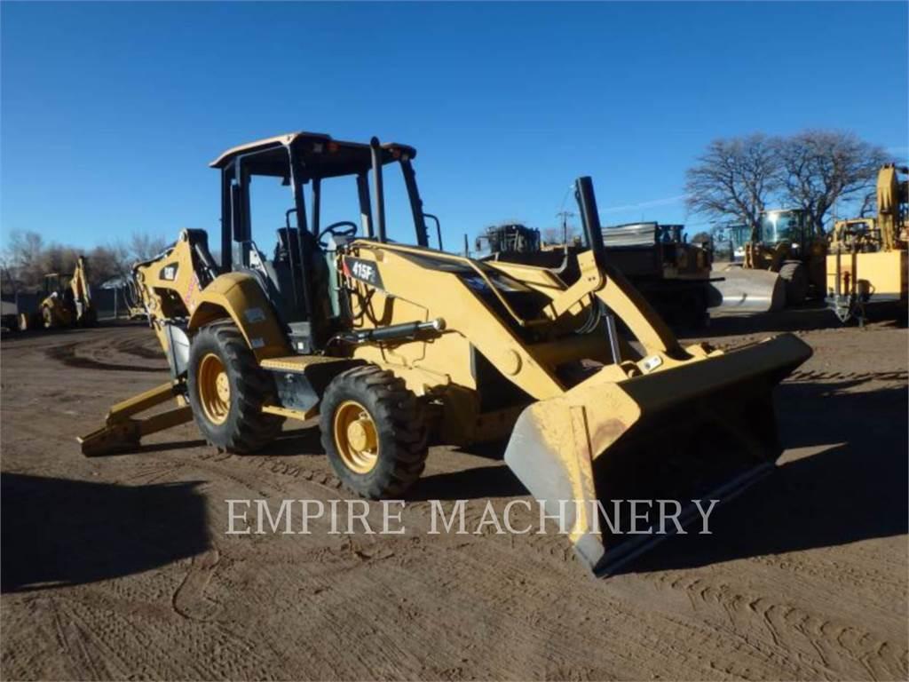 Caterpillar 415F2 4EOP, buldoexcavatoare, Constructii