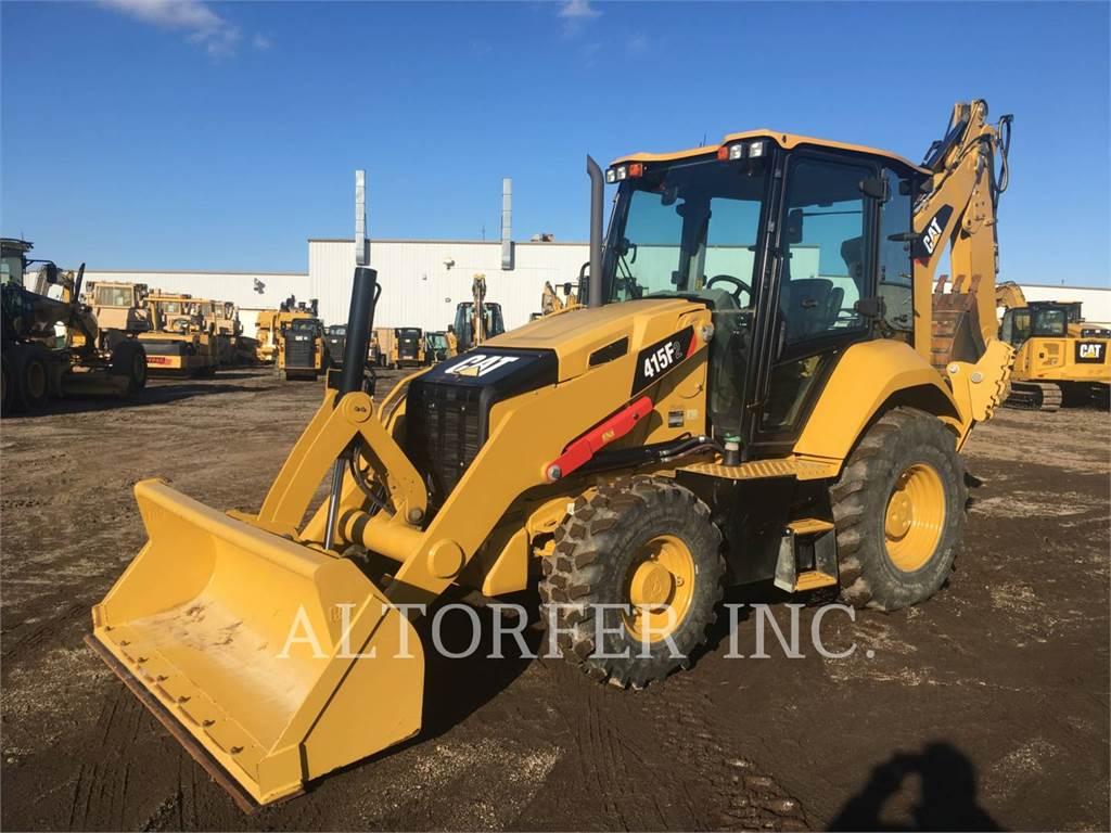 Caterpillar 415F2 ST, backhoe loader, Construction