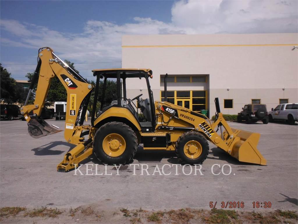 Caterpillar 415F2ST、バックホーローダ、建設
