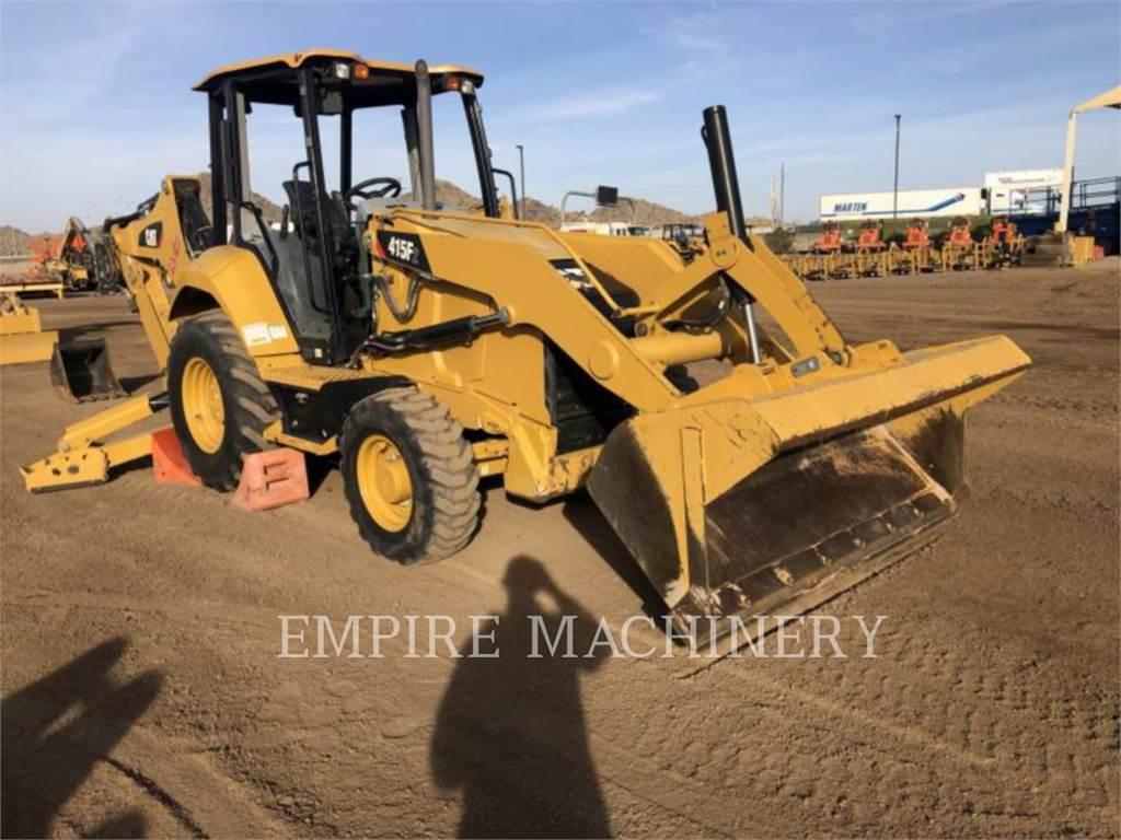 Caterpillar 415F2ST, backhoe loader, Construction