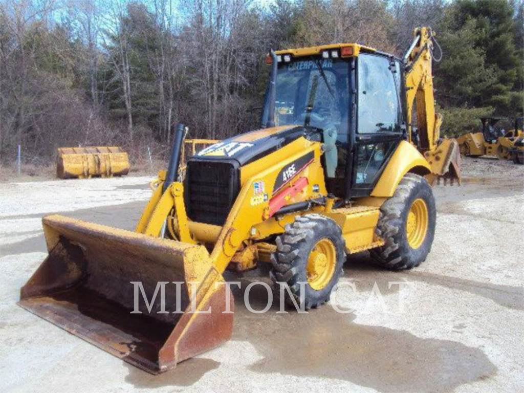 Caterpillar 416 E, backhoe loader, Construction