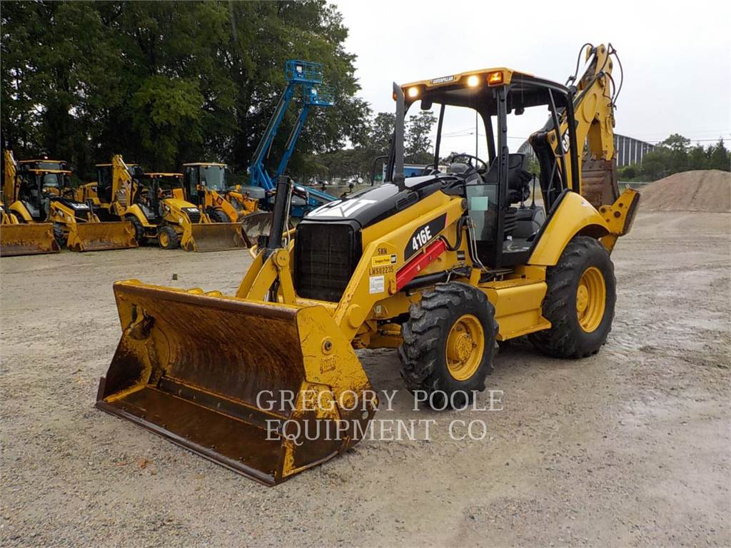 Caterpillar 416E, backhoe loader, Construction