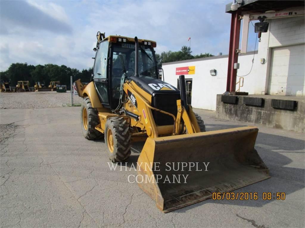 Caterpillar 416E CAB, backhoe loader, Construction