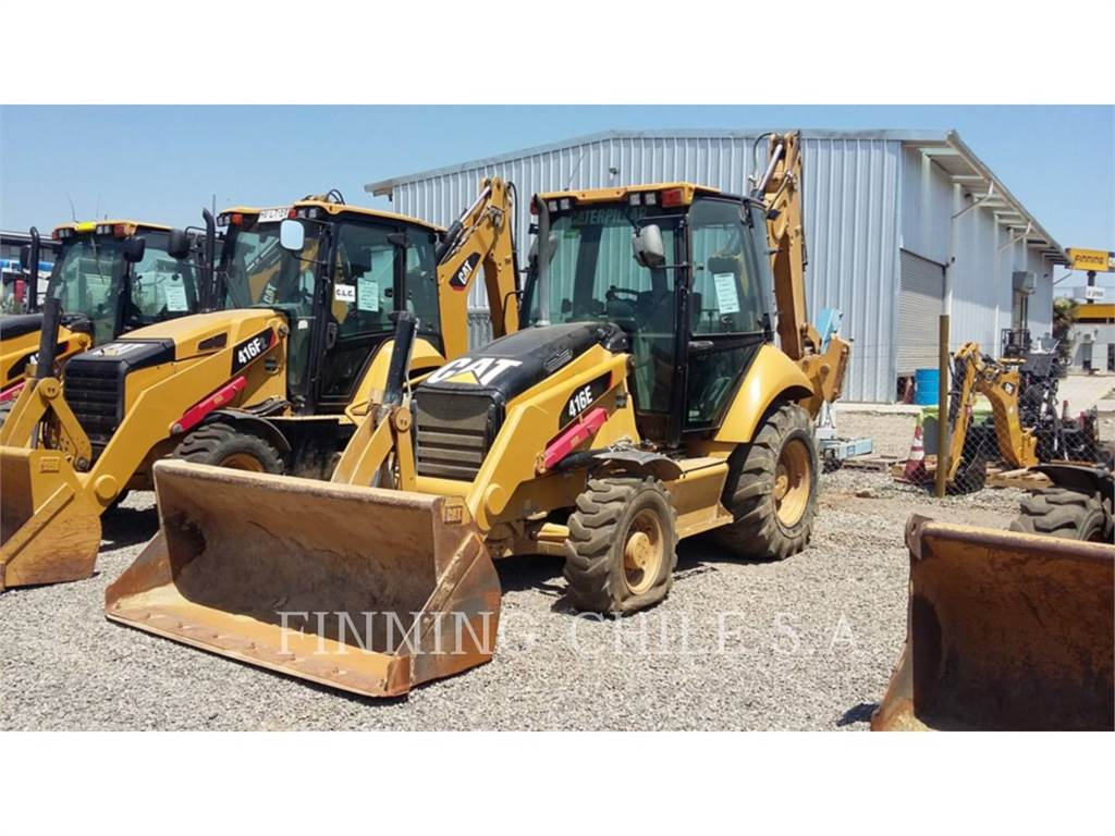 Caterpillar 416EST, backhoe loader, Construction