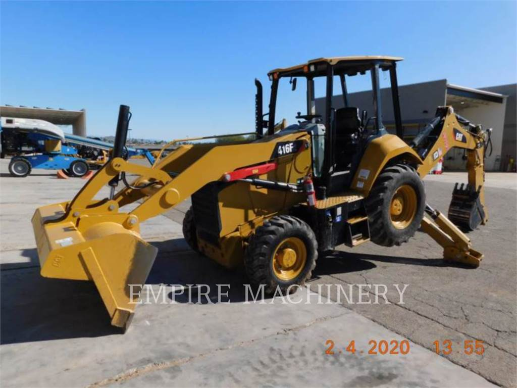 Caterpillar 416F2 4EO, buldoexcavatoare, Constructii