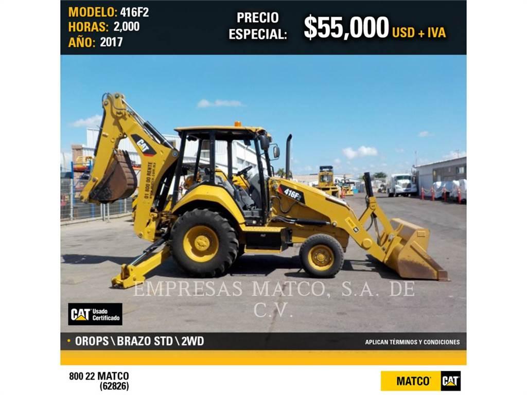 Caterpillar 416F2STLRC, backhoe loader, Construction