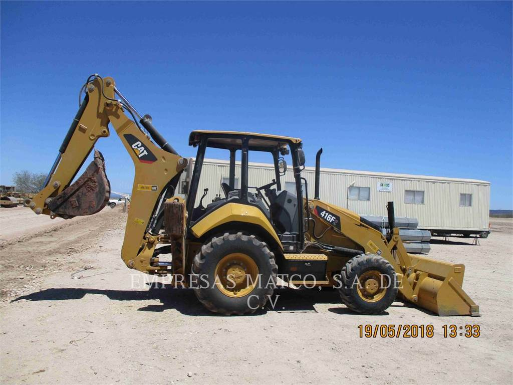Caterpillar 416F2STLRC, backhoe loader, Construction