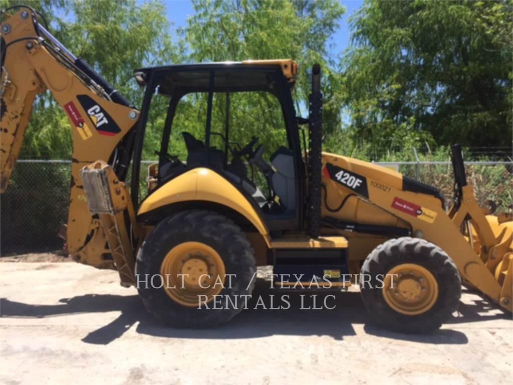 Caterpillar 420 F, backhoe loader, Construction