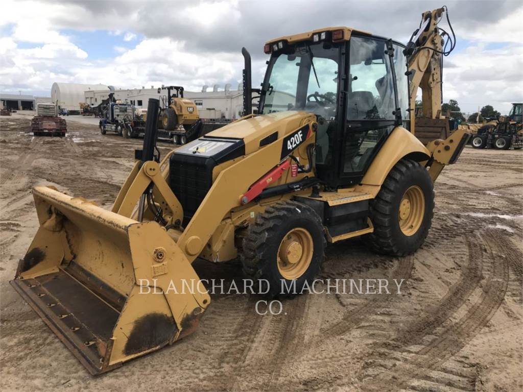 Caterpillar 420 F, backhoe loader, Construction