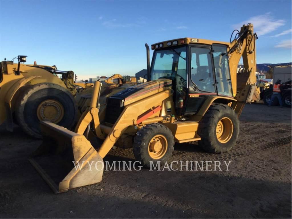 Caterpillar 420D, backhoe loader, Construction