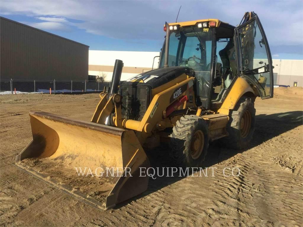 Caterpillar 420E 4WD, backhoe loader, Construction