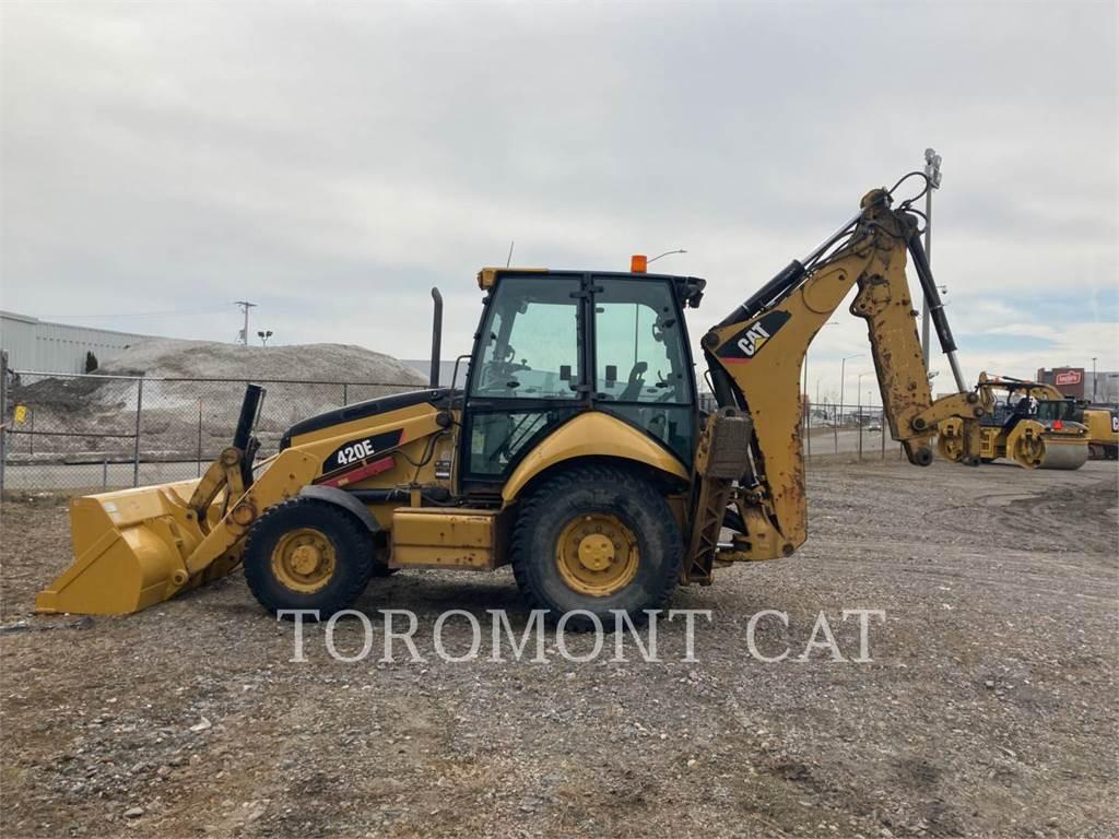 Caterpillar 420E, backhoe loader, Construction