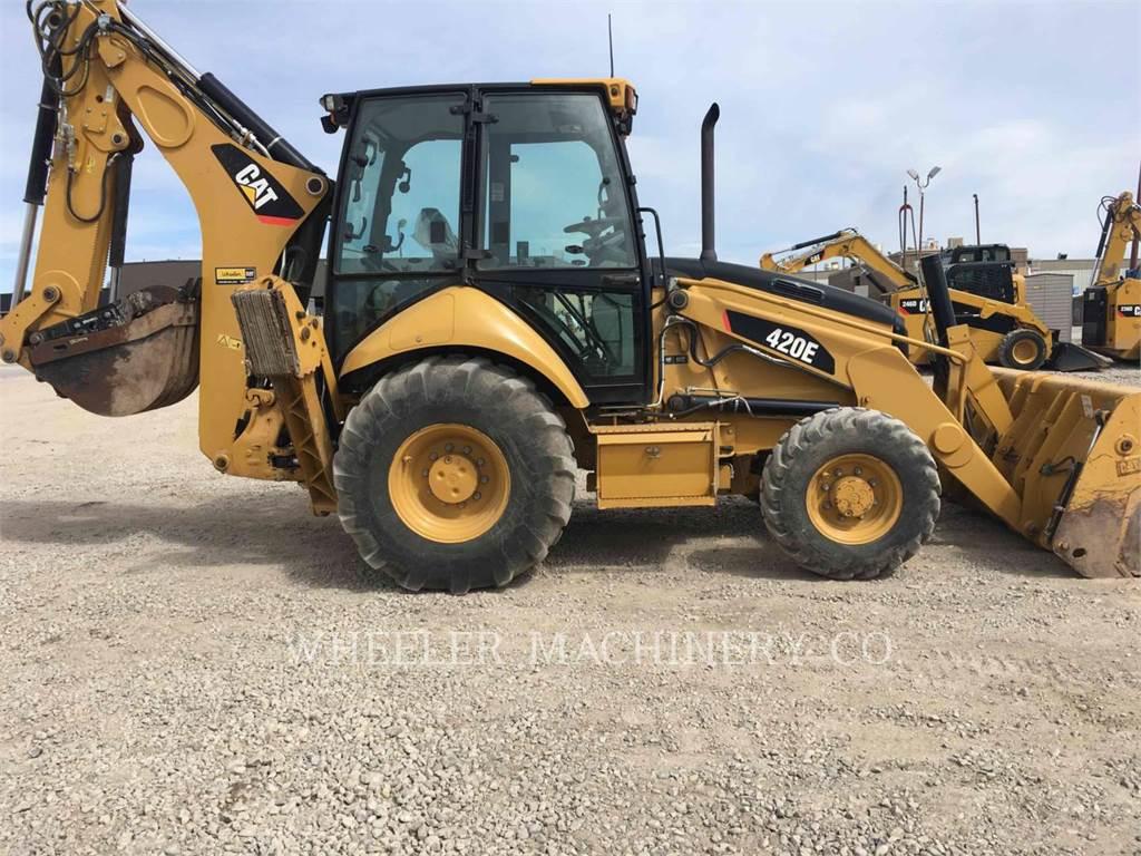 Caterpillar 420E E THM, retroescavadeiras, Equipamentos Construção