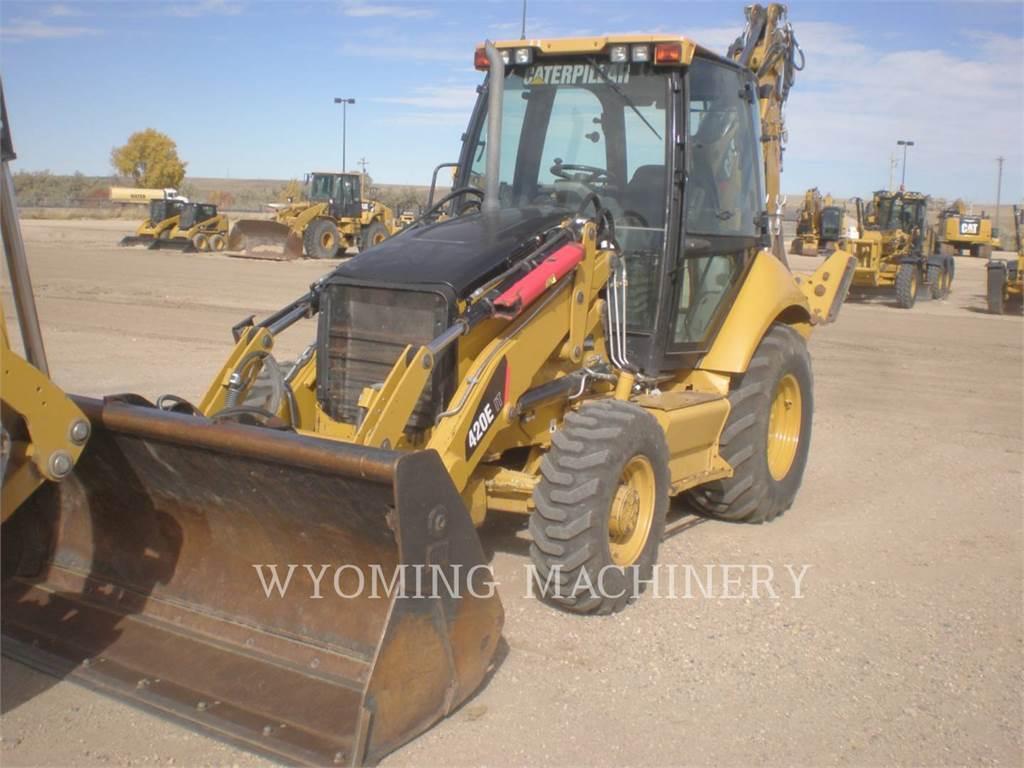 Caterpillar 420E IT, backhoe loader, Construction