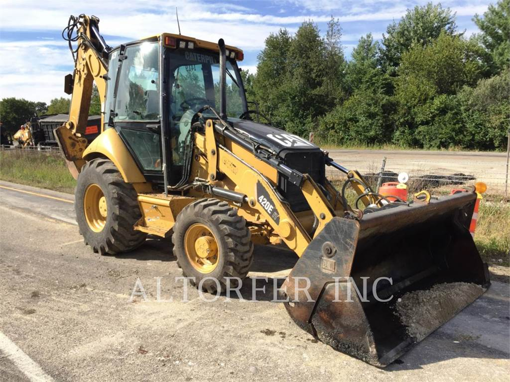 Caterpillar 420EIT, backhoe loader, Construction