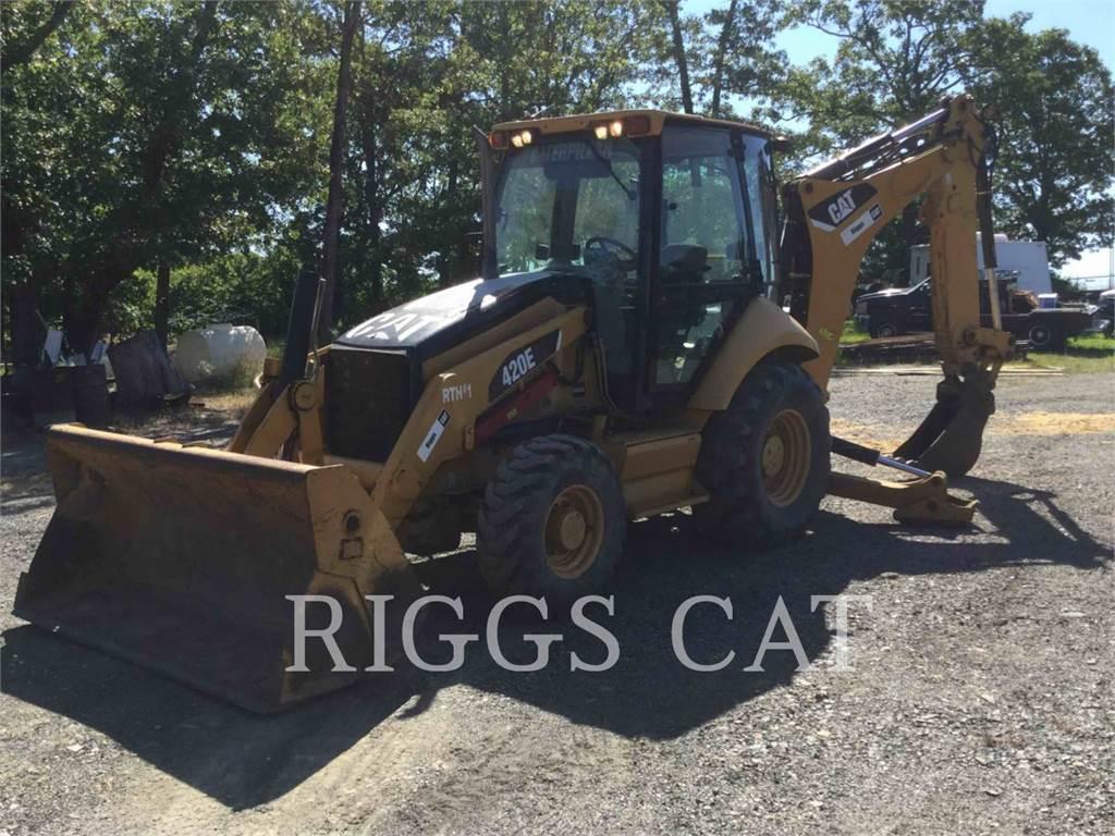 Caterpillar 420EST, backhoe loader, Construction