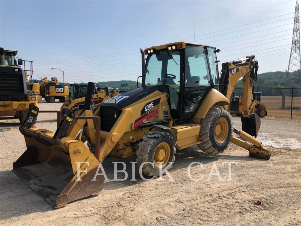 Caterpillar 420EST, backhoe loader, Construction