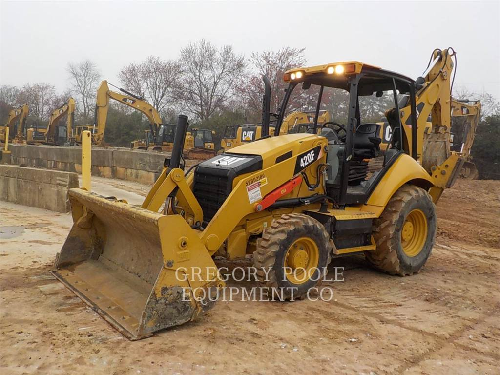 Caterpillar 420F、バックホーローダ、建設