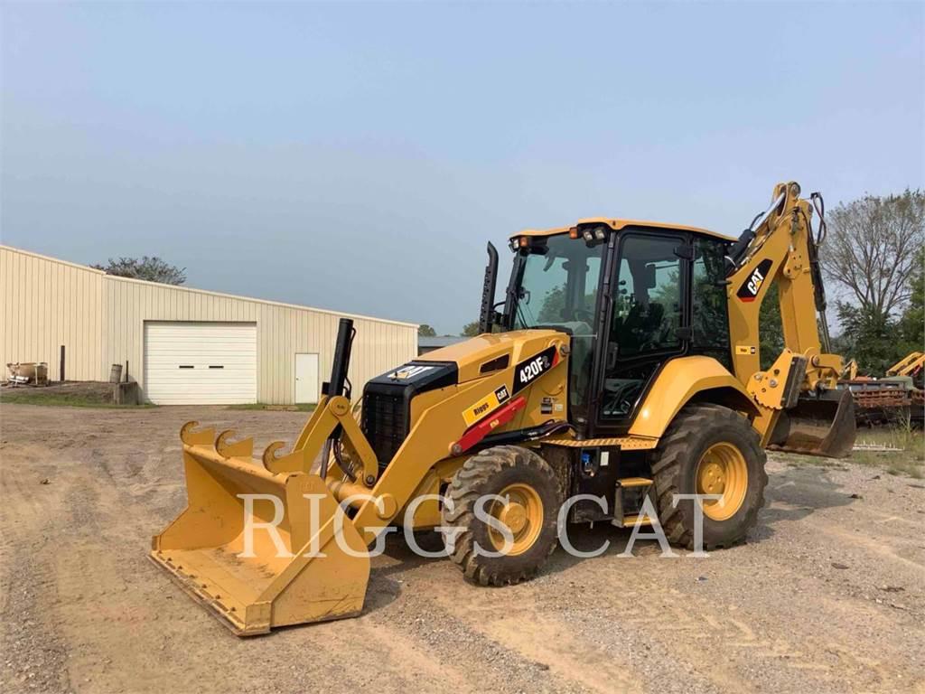 Caterpillar 420F 4AE, backhoe loader, Construction