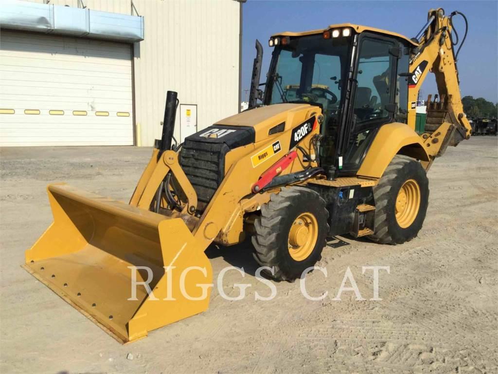 Caterpillar 420F 4AEM, backhoe loader, Construction