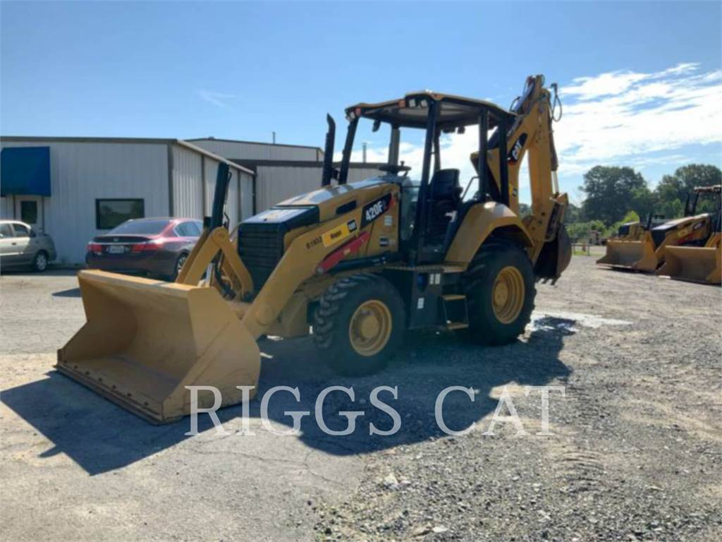 Caterpillar 420F 4E, backhoe loader, Construction