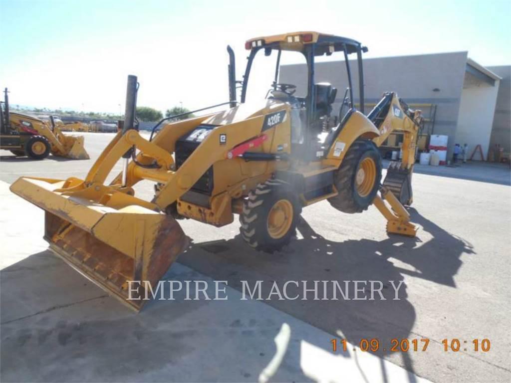 Caterpillar 420F 4EO, backhoe loader, Construction