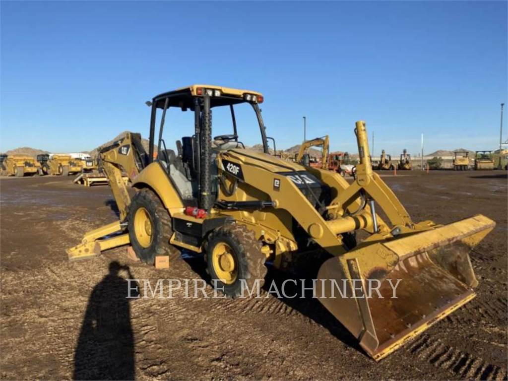 Caterpillar 420F 4EO P, backhoe loader, Construction
