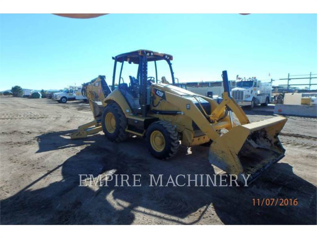 Caterpillar 420F 4EO P, backhoe loader, Construction