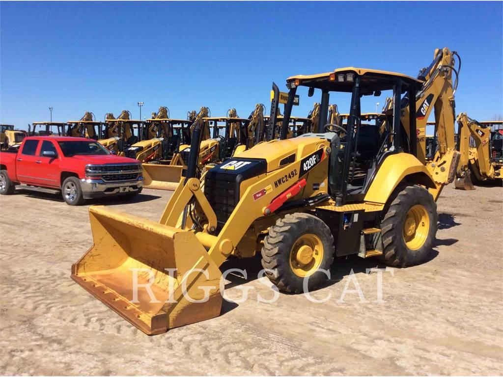 Caterpillar 420F 4H, backhoe loader, Construction
