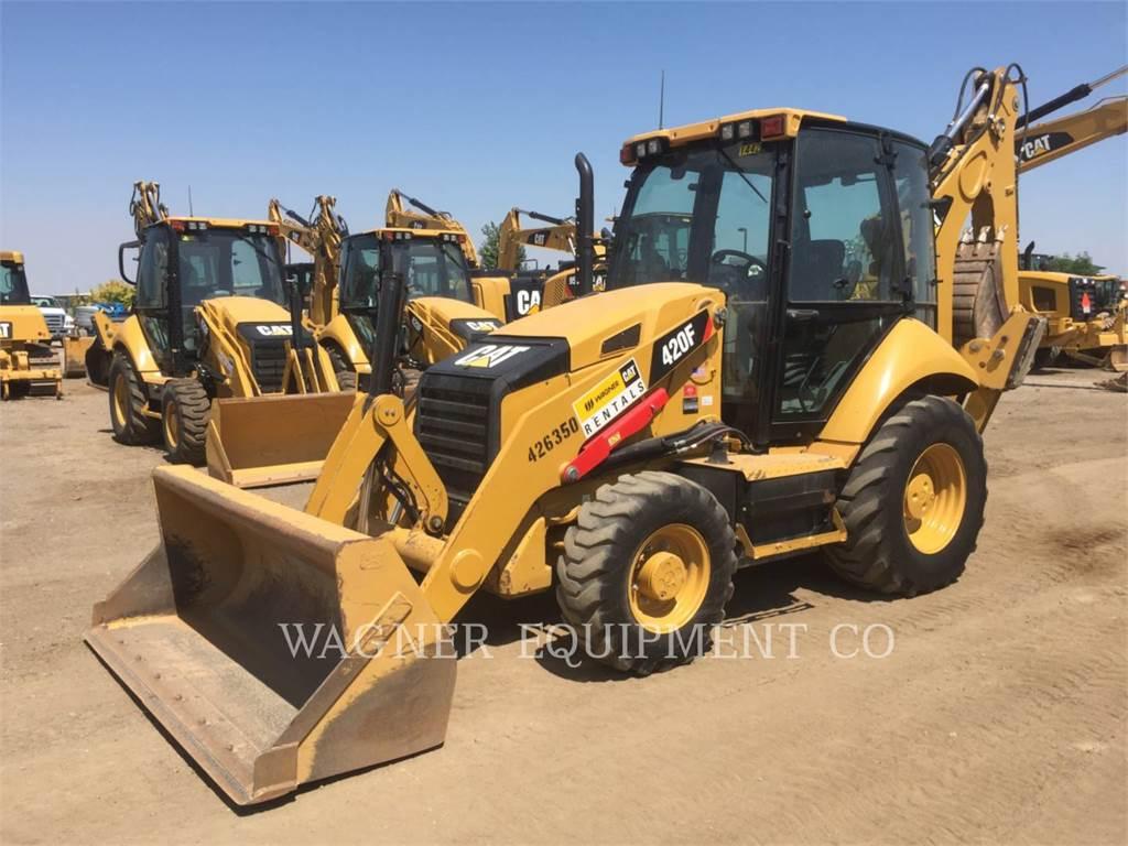 Caterpillar 420F 4WD, retroescavadeiras, Equipamentos Construção