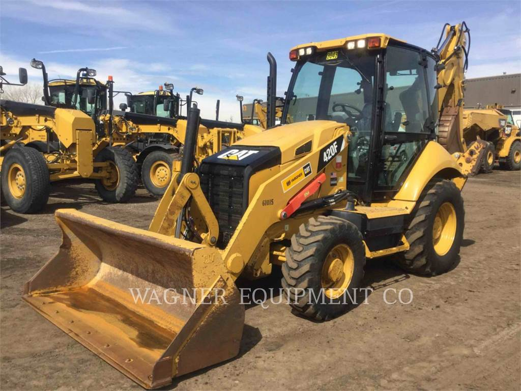 Caterpillar 420F 4WD, backhoe loader, Construction