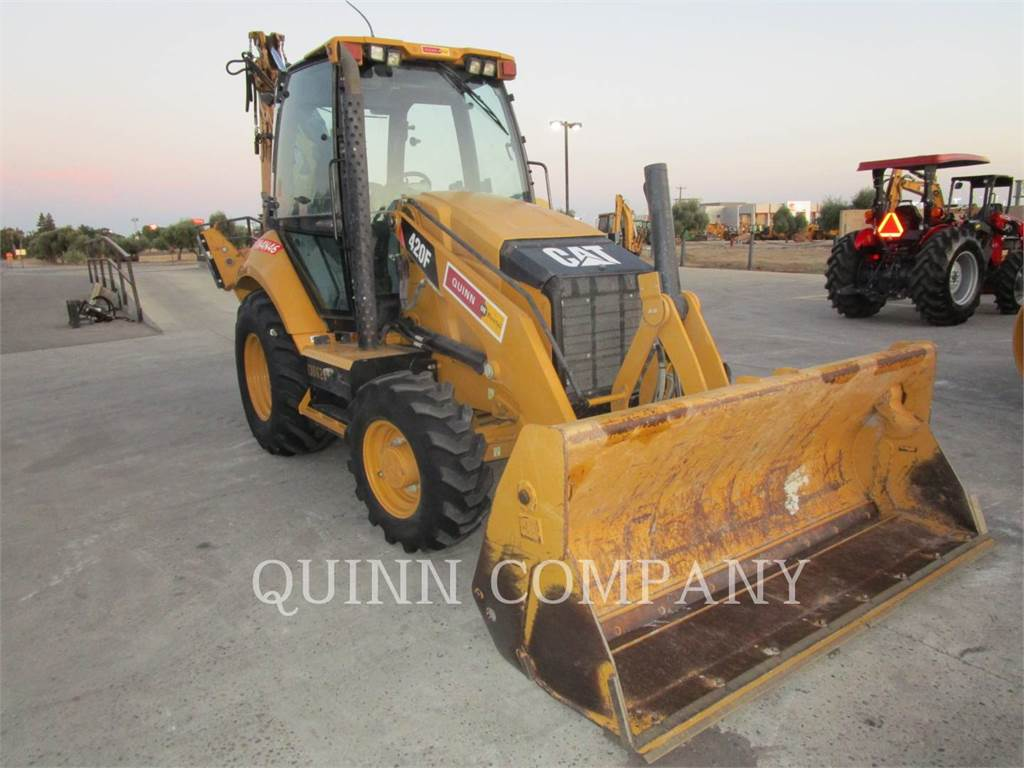 Caterpillar 420F CAB, backhoe loader, Construction