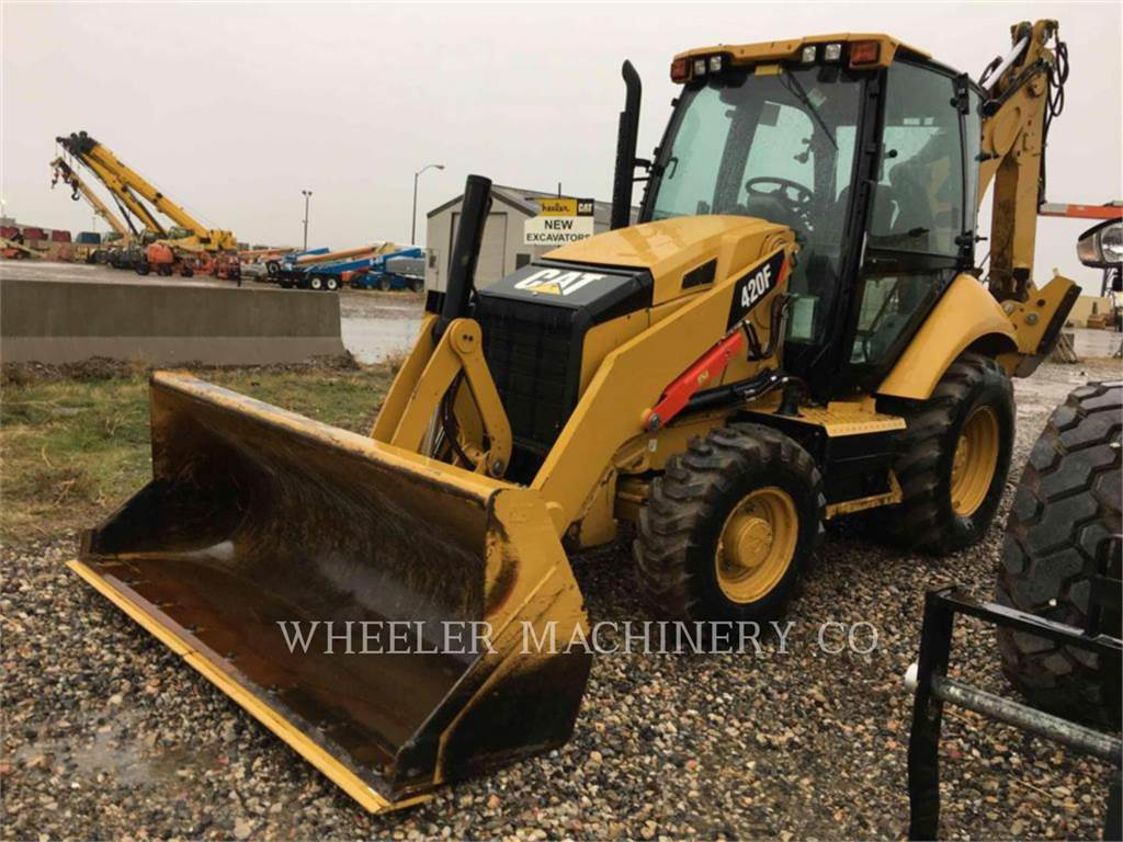 Caterpillar 420F E, backhoe loader, Construction