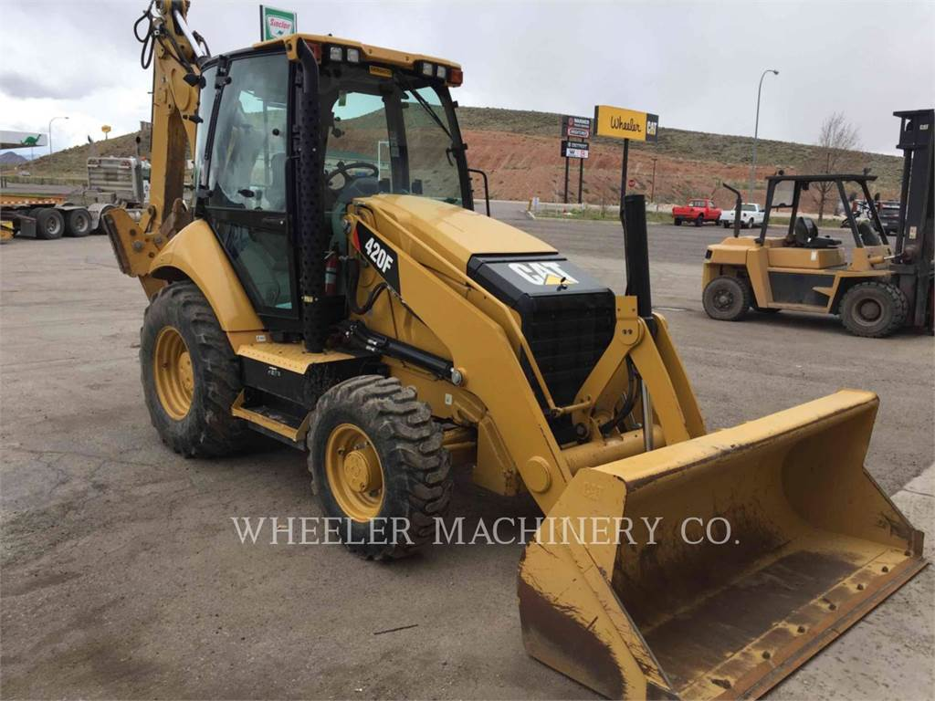 Caterpillar 420F E, backhoe loader, Construction