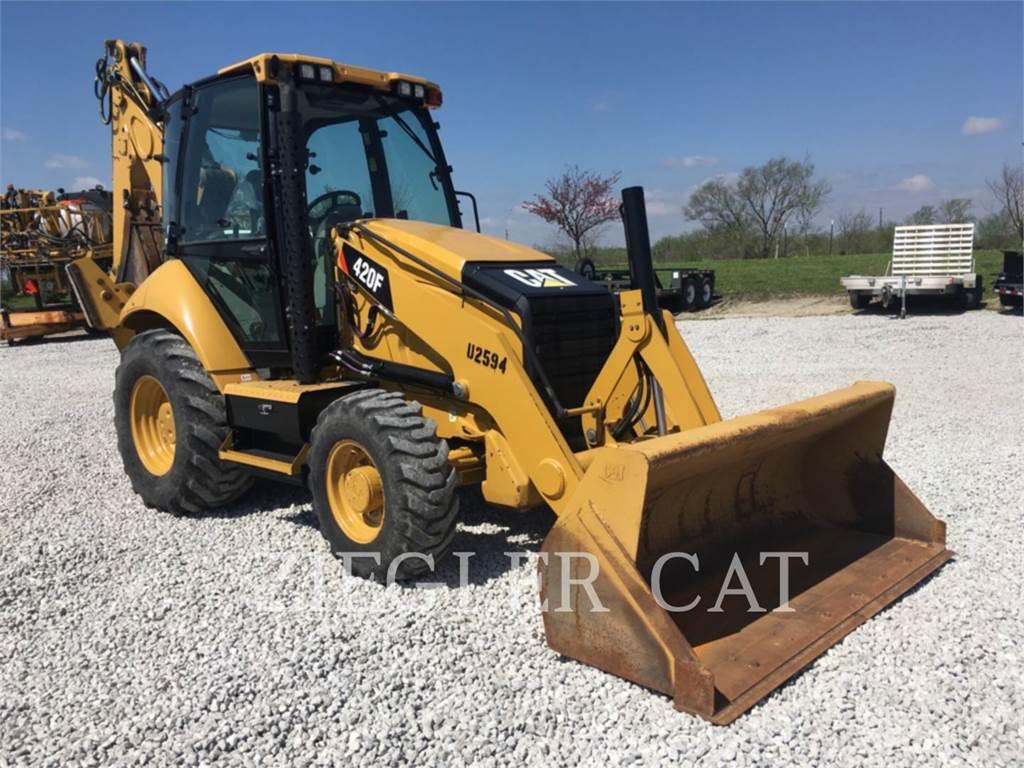 Caterpillar 420F, backhoe loader, Construction