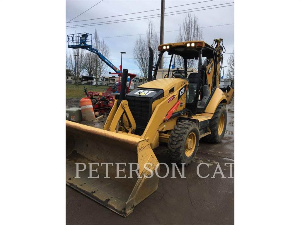 Caterpillar 420F, backhoe loader, Construction