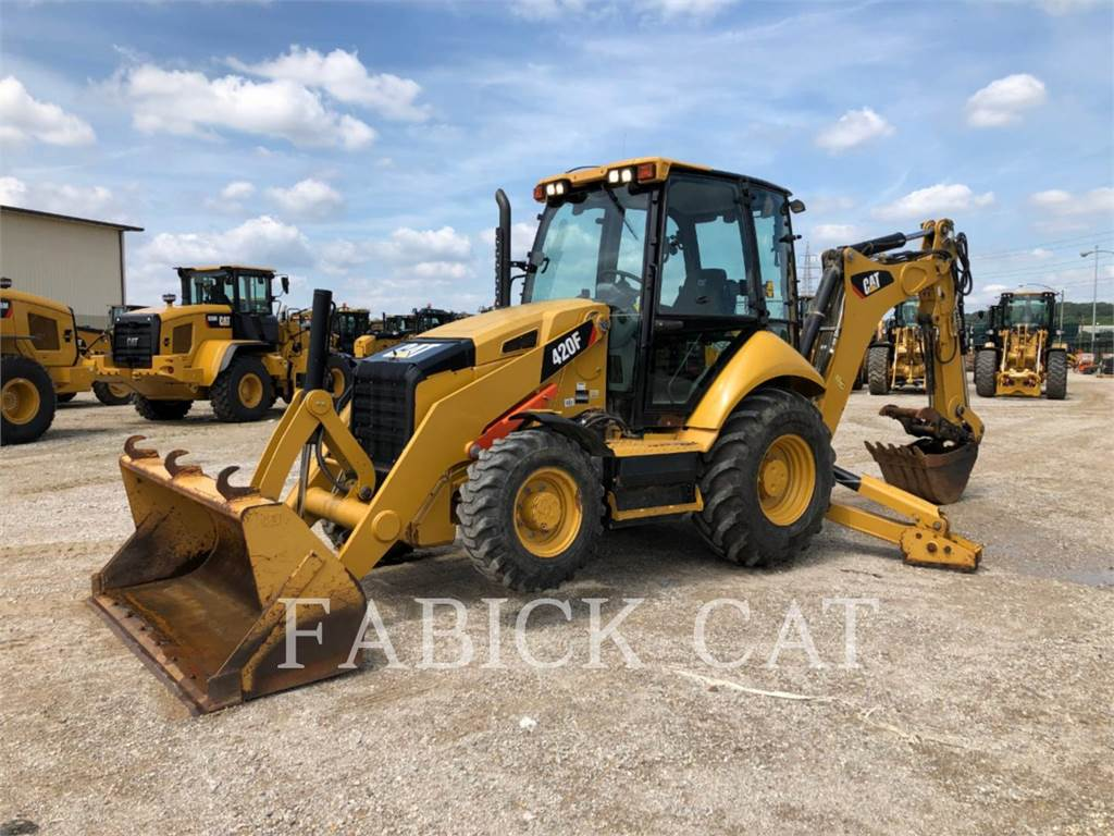 Caterpillar 420F HT, backhoe loader, Construction