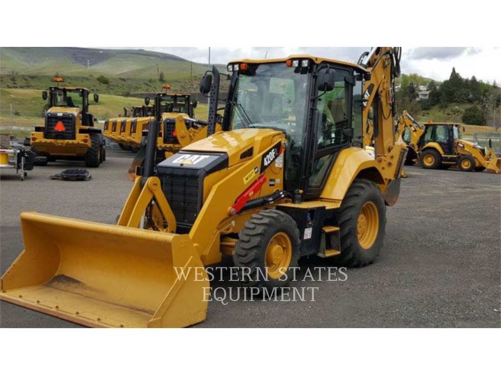 Caterpillar 420F2, backhoe loader, Construction