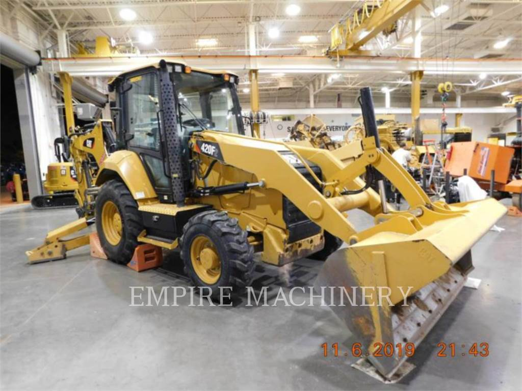Caterpillar 420F2 4EC, backhoe loader, Construction