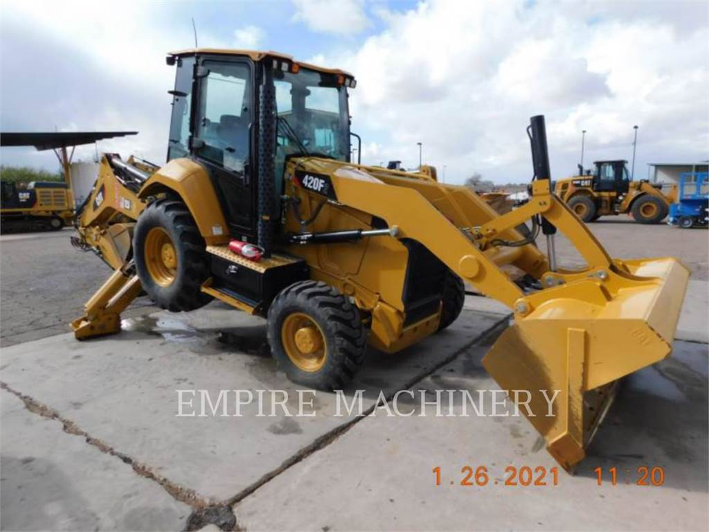 Caterpillar 420F2 4ECP, backhoe loader, Construction