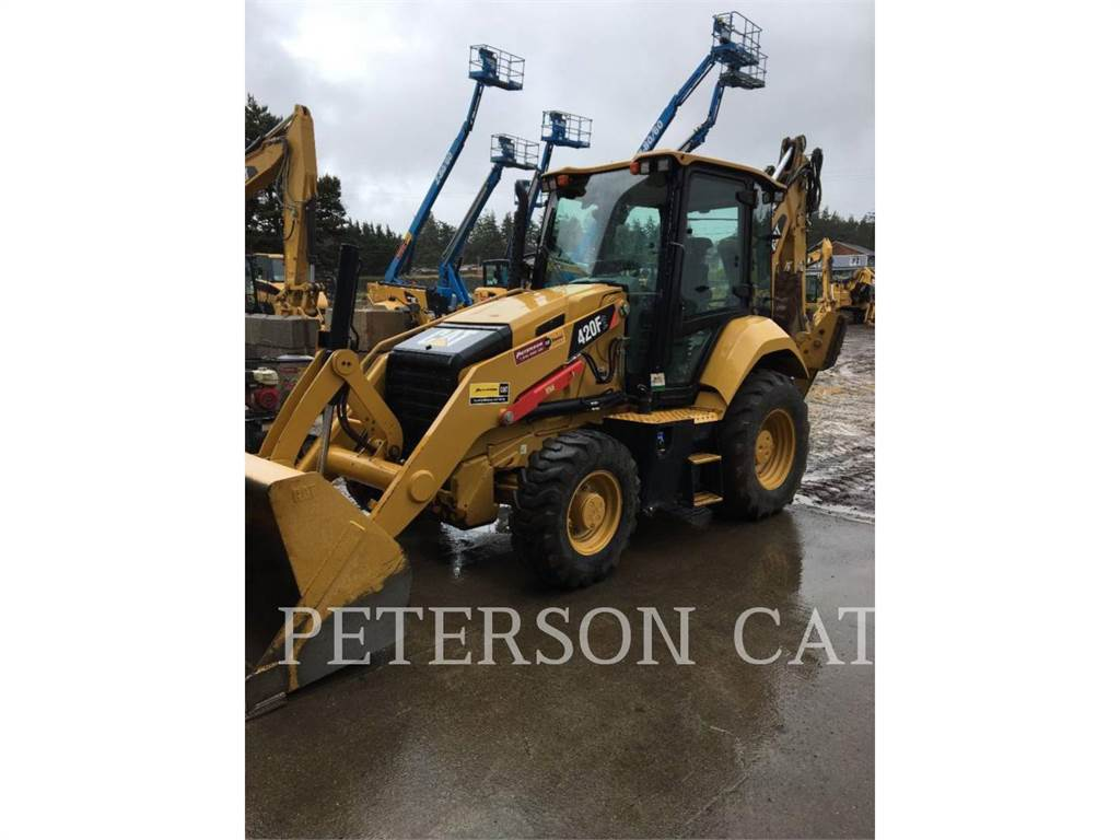 Caterpillar 420F2 CAB, backhoe loader, Construction