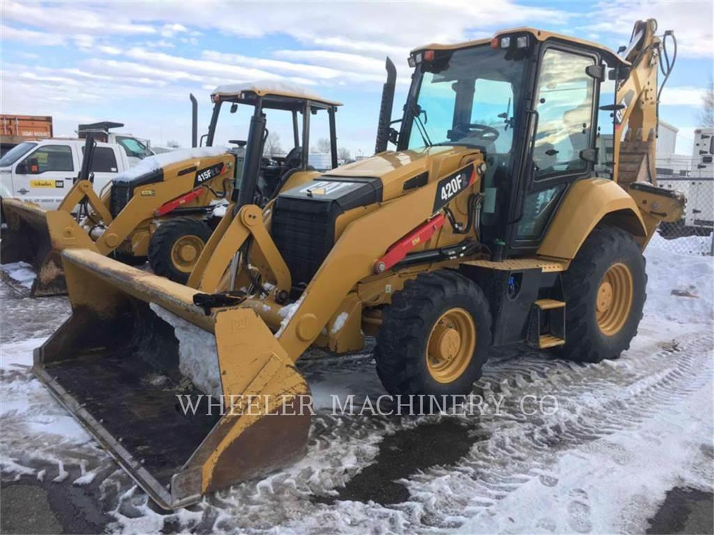 Caterpillar 420F2 E, backhoe loader, Construction