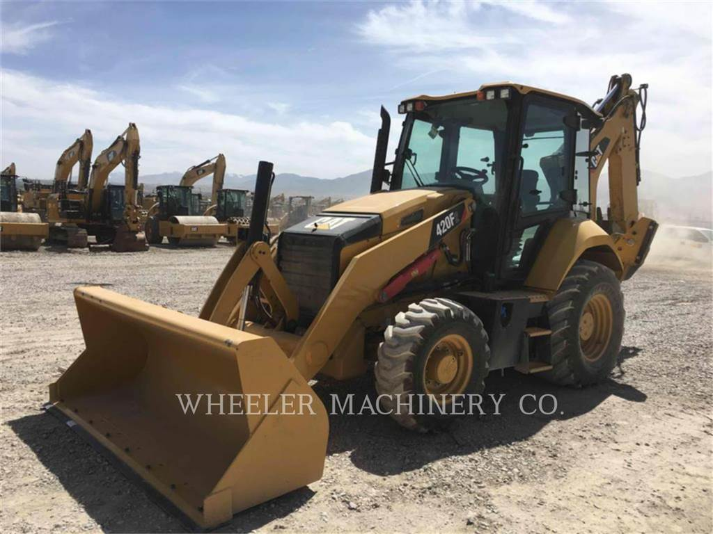 Caterpillar 420F2 E, backhoe loader, Construction