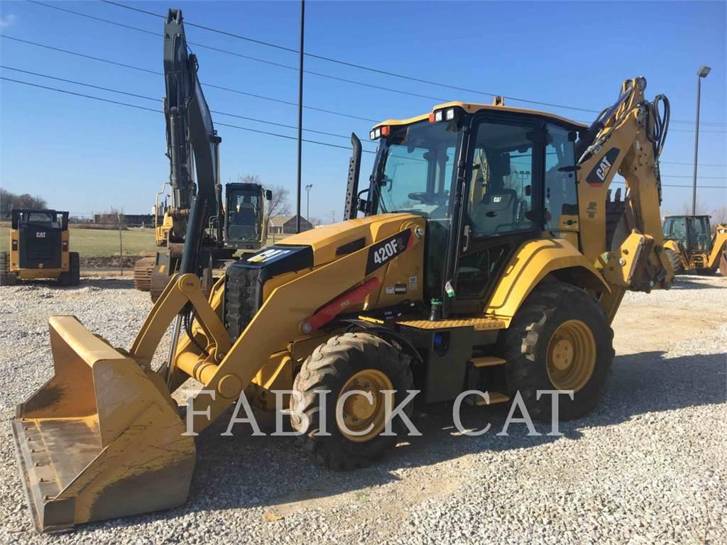 Caterpillar 420F2 HT, backhoe loader, Construction