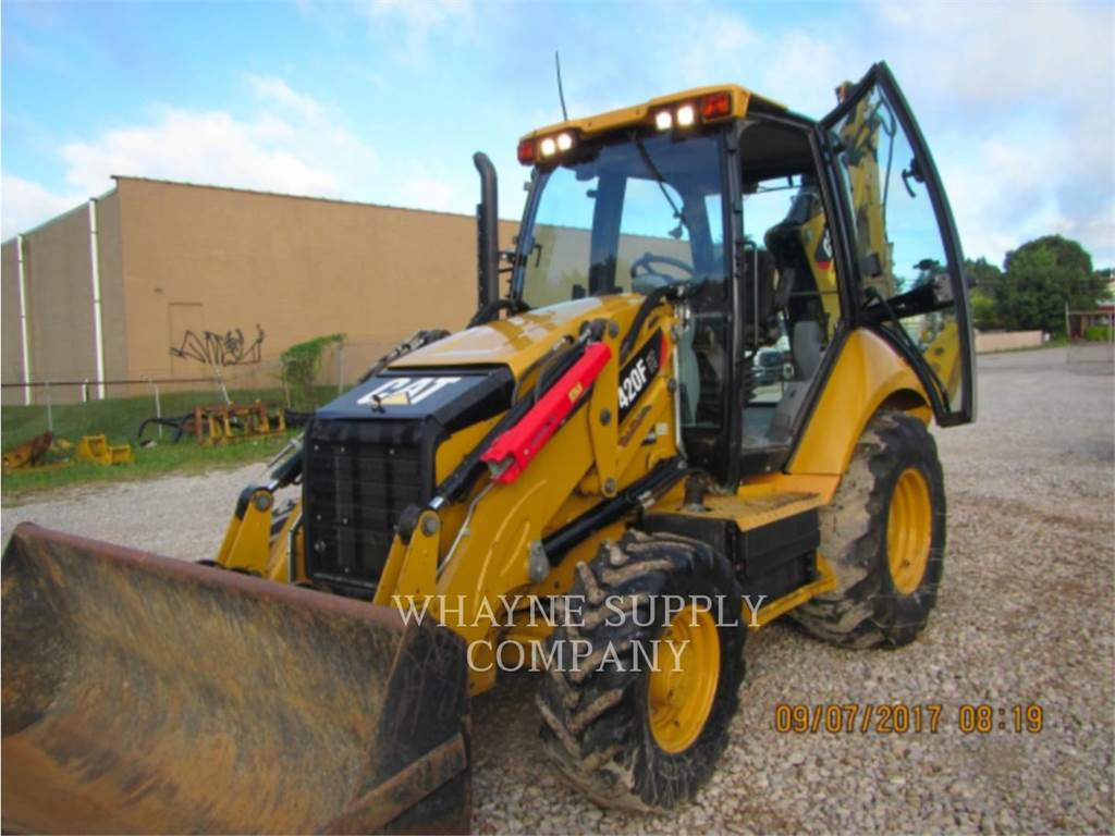 Caterpillar 420FIT, backhoe loader, Construction