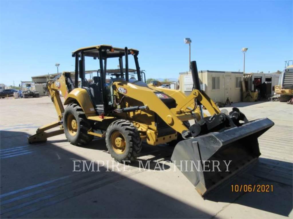 Caterpillar 420XE4EOP, backhoe loader, Construction