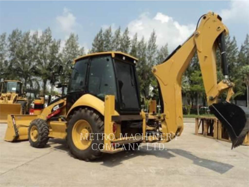 Caterpillar 422E, backhoe loader, Construction