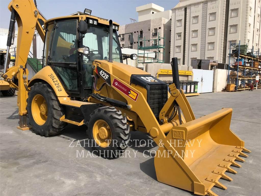 Caterpillar 422F, backhoe loader, Construction