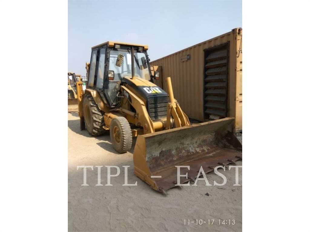 Caterpillar 424 B, backhoe loader, Construction